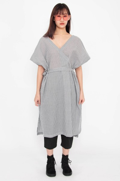 Neila Stripe Surplice Tunic