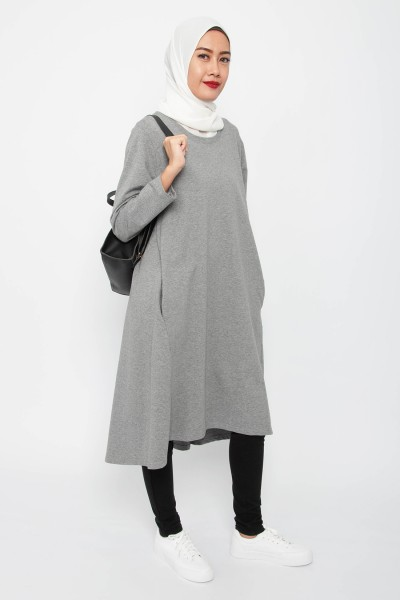 Iris Plain Sweat Dress