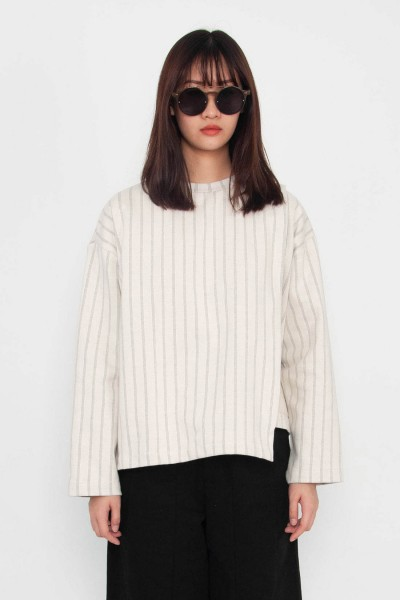 Autumn Striped Sweatshirt