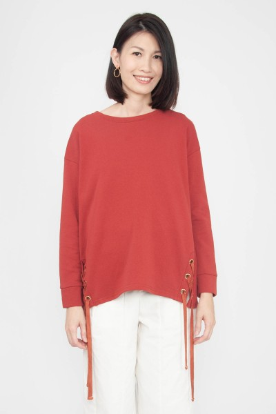 Calluna Lace-up Sweater