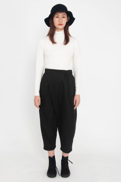 Kaia Faux-Wrap Tapered Pants