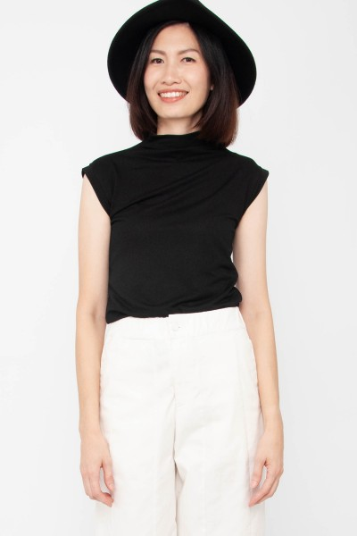 Ivy Mock Neck Sleeveless Top