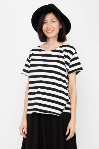 Laura Stripe Wrap Top